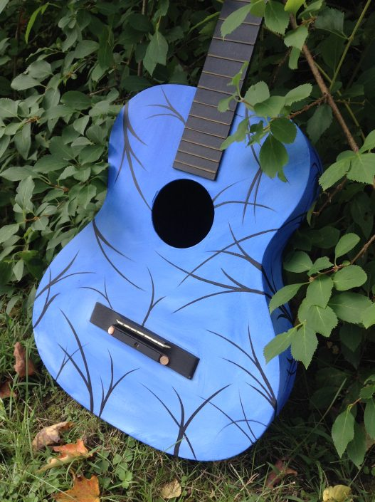 Blue Branch Guitar, acrylic on acoustic guitar (private collection)