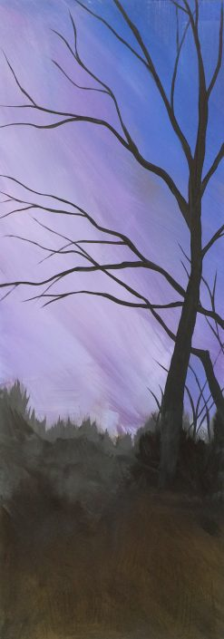Field at Dusk, acrylic on PVC board, 12x30 (sold)