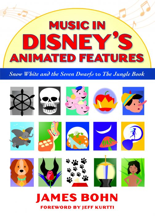 Book cover design, Music in Disney's Animated Features. Digital illustration