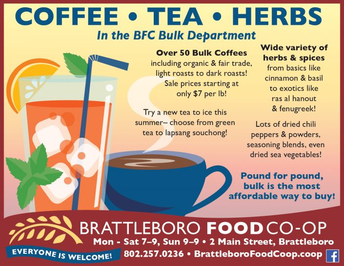 Advertising design for Brattleboro Food Co-op, VT.