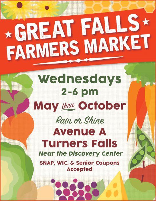 Winning Design: Great Falls Farmers Market poster, Turners Falls, MA