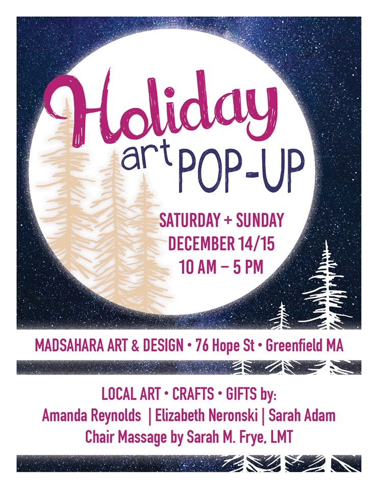 holiday art pop-up greenfield